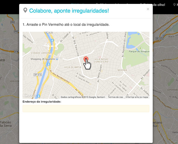 arrastar, pin, mapa, googlemaps